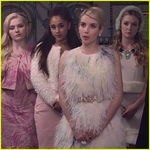 Emma Roberts & Ariana Grande Form Pink Clique in First 'Scream Queens' Trailer - Watch Now!