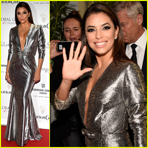 Eva Longoria Shines in Silver at the Cannes' Global Gift Gala