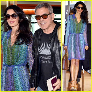 George & Amal Clooney Hold Hands Upon Japan Arrival