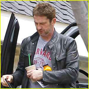 Gerard Butler Gets An Early Start On His Saturday Morning