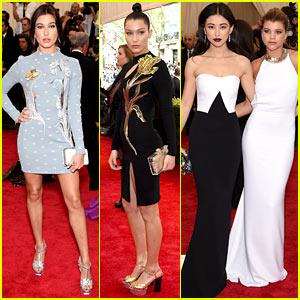 Hailey Baldwin, Bella Hadid, & Sofia Richie Represent Young Models at Met Gala 2015