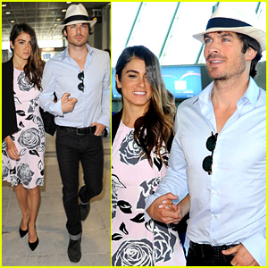 Ian Somerhalder & Nikki Reed Travel in Style to Leave Cannes