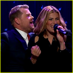 Idina Menzel Performs 'Dirty Dancing' with James Corden!
