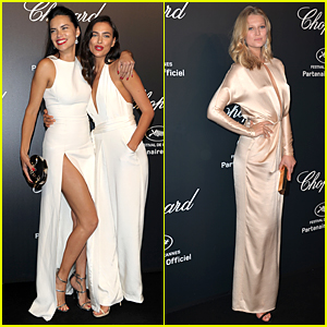 Irina Shayk & Adriana Lima Are White Hot at Cannes Chopard Party