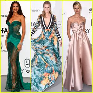 Irina Shayk & Toni Garrn Get Colorful for amfAR's Gala 2015