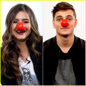 Jacquie Lee & Martin Garrix Get Silly for Red Nose Day!