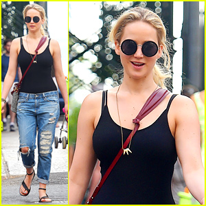 Jennifer Lawrence Is All Smiles for Memorial Day Outing!