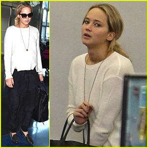 Jennifer Lawrence Jets Out of New York City After Met Gala