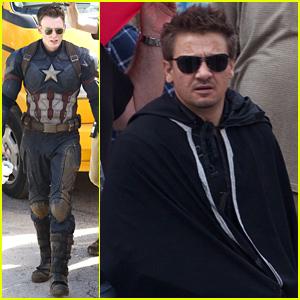 Jeremy Renner Joins Chris Evans on 'Captain America: Civil War' Set!