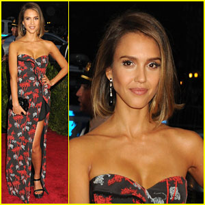 Jessica Alba Shows Some Skin at Met Gala 2015