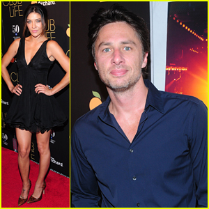 Jessica Szohr Gets Support From Zach Braff at 'Club Life' New York Premiere!
