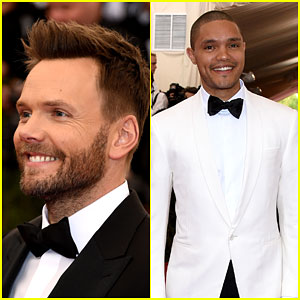 Joel McHale & Trevor Noah Bring the Laughs at Met Gala 2015