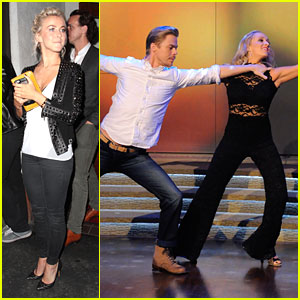 Julianne Hough Grabs Dinner With DWTS Judges After Semi-Finals