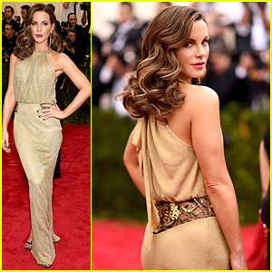 Kate Beckinsale Looks Golden & Glamorous at Met Gala 2015