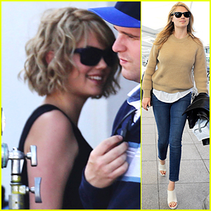 Kate Upton Rocks Shorter Curly Bob on 'Layover' Set
