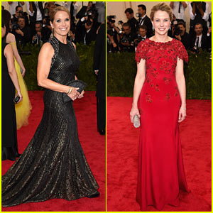 Katie Couric & Marissa Mayer Go Yahoo! at Met Gala 2015