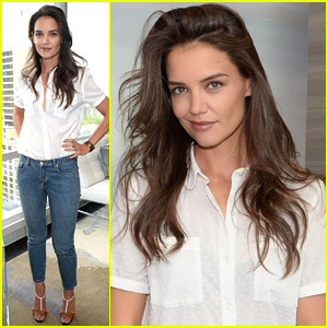 Katie Holmes Shows Off Long Hair After