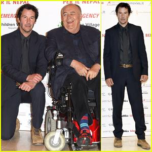 Keanu Reeves Reunites with Director Bernardo Bertolucci at 'Little Buddha' Charity Screening!