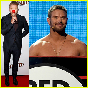 Kellan Lutz Stripped Down On Stage at Red Nose Day!
