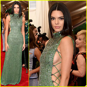 Kendall Jenner Bares Some Side Boob at Met Gala 2015