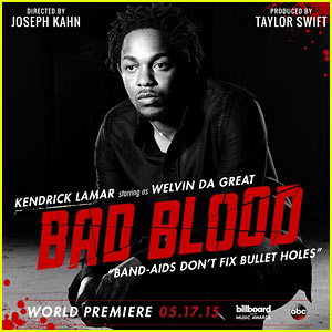 Kendrick Lamar Joins Taylor Swift's 'Bad Blood' Video!