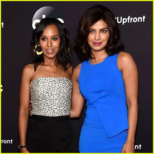 Kerry Washington Welcomes Priyanka Chopra to ABC at Upfront Presentation!