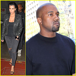 Kim Kardashian & Kanye West Spend Their Night at the Studio