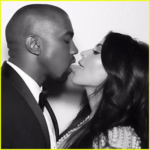 Kim Kardashian & Kanye West Share a Tongue Kiss in Wedding Anniversary Throwback Photo
