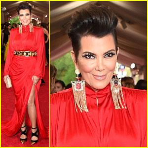Kris Jenner is a Lady in Red at Met Gala 2015