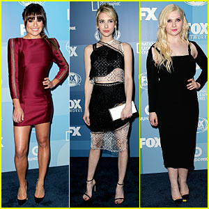 Lea Michele & Emma Roberts Are 'Scream Queens' Babes at Fox Upfronts