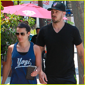 Lea Michele & Matthew Paetz Enjoy Chipotle During Memorial Day Weekend