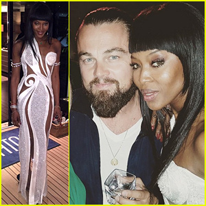 Leonardo DiCarpio Helps Naomi Campbell Celebrate Her 45th Birthday in Cannes!
