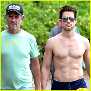 Matt Bomer Goes Shirtless in Hawaii with Husband Simon Halls