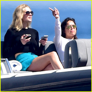 Michelle Rodriguez & Toni Garrn Enjoy Yacht Ride in Cannes