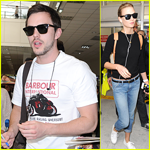 Nicholas Hoult & Karlie Kloss Land in Nice Ahead of Cannes Film Festival