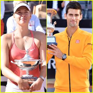 Maria Sharapova & Novak Djokovic Win Italian Open Titles!