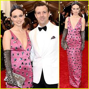 Olivia Wilde & Jason Sudeikis Shine as Couple at Met Gala 2015