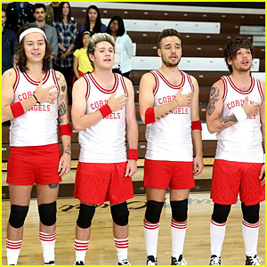 One Direction Guys Play Dodgeball with James Corden! (Video)