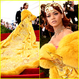 Rihanna's Met Gala 2015 Dress Has the Longest Train Ever!