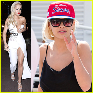Rita Ora Looks White Hot at Cannes Private Concert