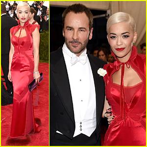 Rita Ora & Tom Ford Are Red Hot Duo at Met Gala 2015