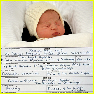 Princess Charlotte's Birth Certificate Has Been Released!
