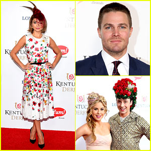Sarah Hyland & Stephen Amell Wear Their Best Derby Outfits in Kentucky!