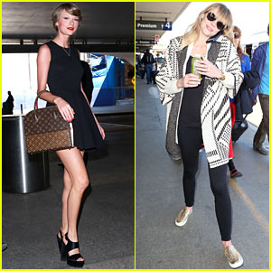 Taylor Swift & Jaime King Fly the Skies the Same Day