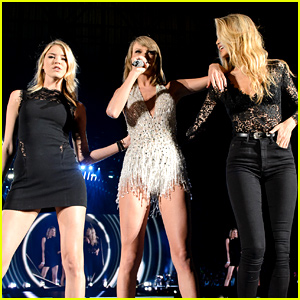 Taylor Swift Surprises Detroit Concert Crowd with Gigi Hadid & Martha Hunt!