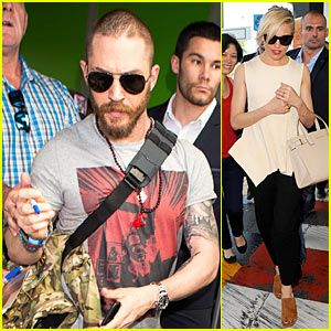 Tom Hardy & Sienna Miller Hit Nice Airport Ahead of Cannes Film Festival