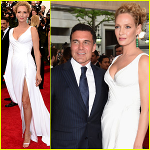 Uma Thurman Towers Over Boyfriend Andre Balazs at Met Gala