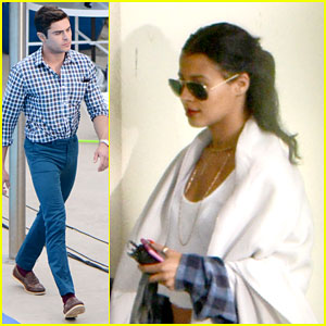 Zac Efron Heads Back to Hotel With Sami Miro After 'Dirty Grandpa' Filming