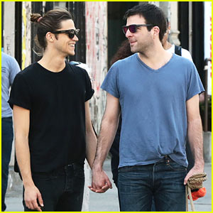 Zachary Quinto & Boyfriend Miles McMillan Look So in Love!