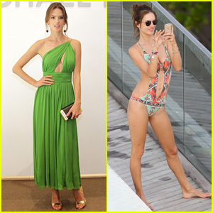 Alessandra Ambrosio is a Green Goddess for Michael Kors